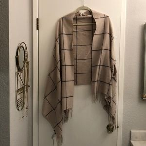Madewell scarf shall with arm holes -new with tags